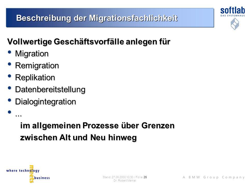Beschreibung der Migrationsfachlichkeit