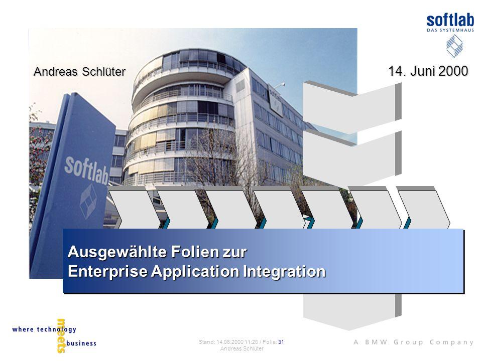 Ausgewählte Folien zur Enterprise Application Integration