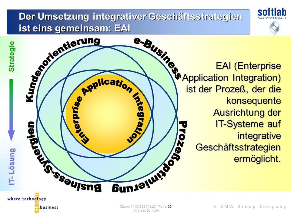 Der Umsetzung integrativer Geschäftsstrategien ist eins gemeinsam: EAI