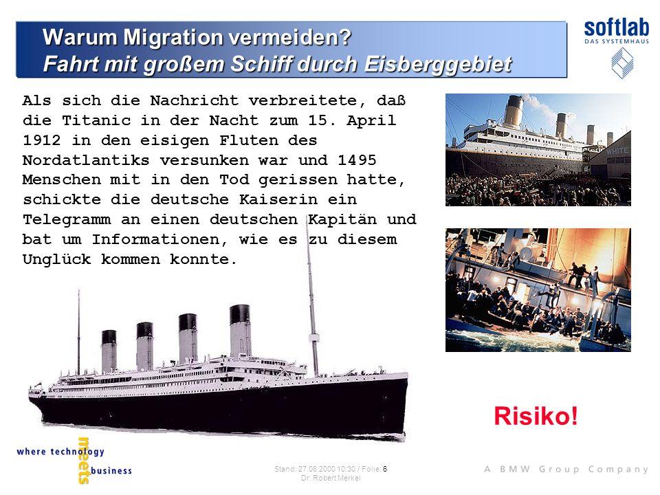 Warum Migration vermeiden Fahrt mit großem Schiff durch Eisberggebiet