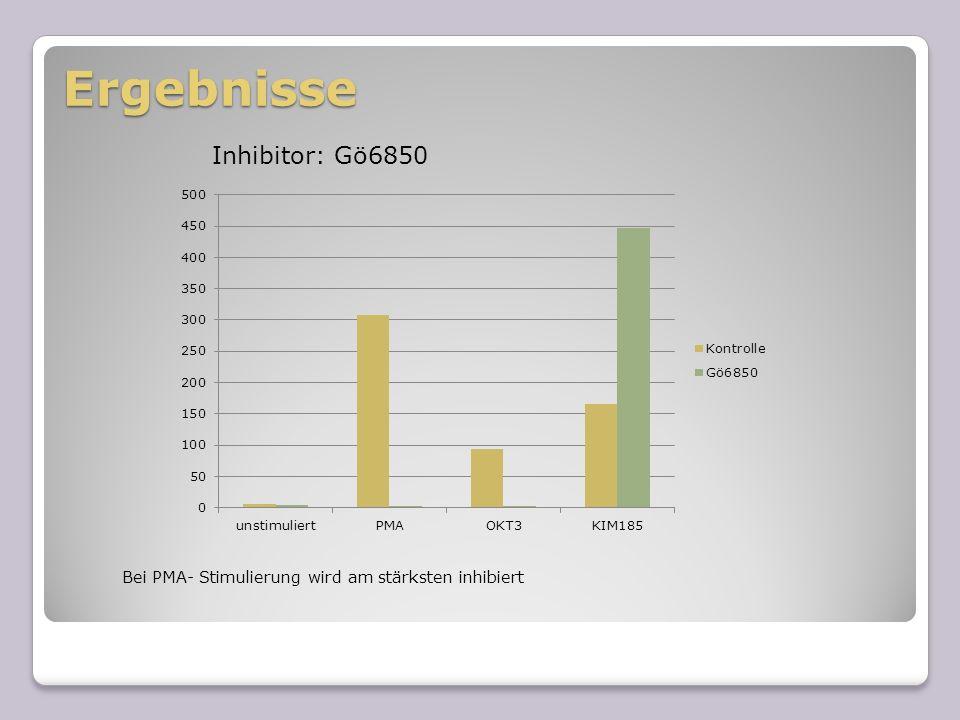 Ergebnisse Inhibitor: Gö6850