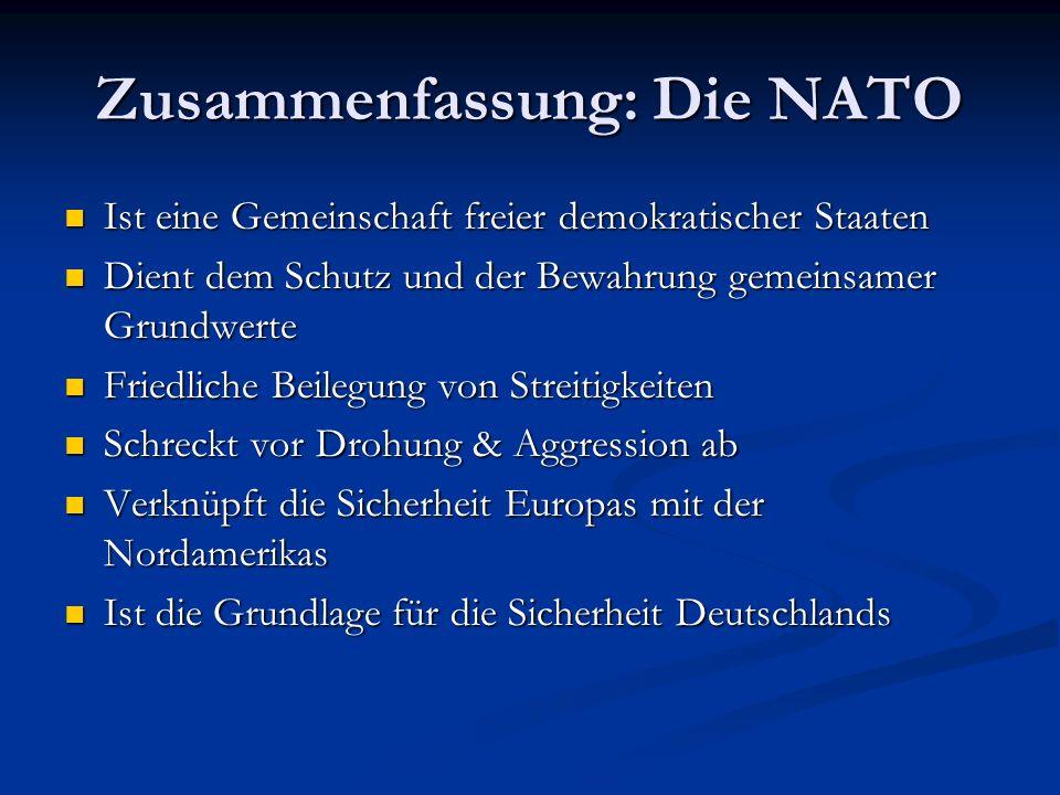 Zusammenfassung: Die NATO