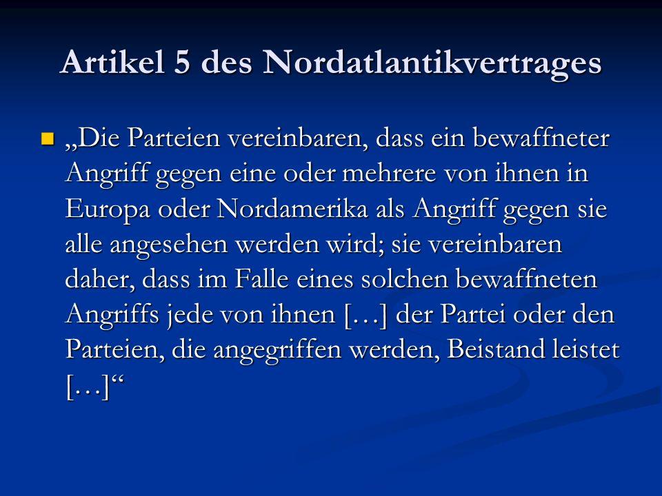 Artikel 5 des Nordatlantikvertrages