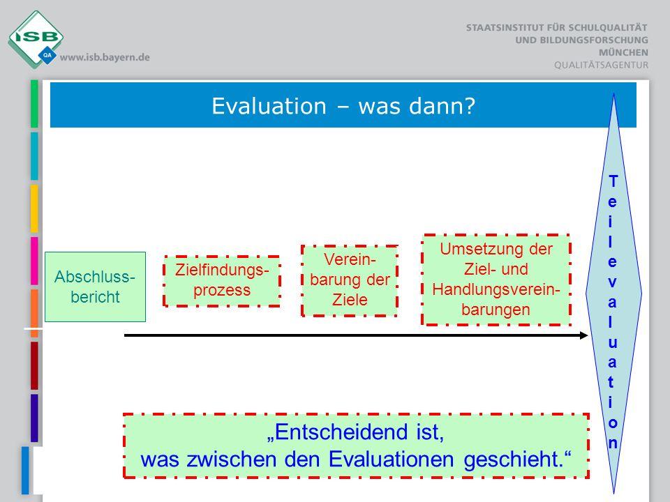"""""""Entscheidend ist, was zwischen den Evaluationen geschieht."""