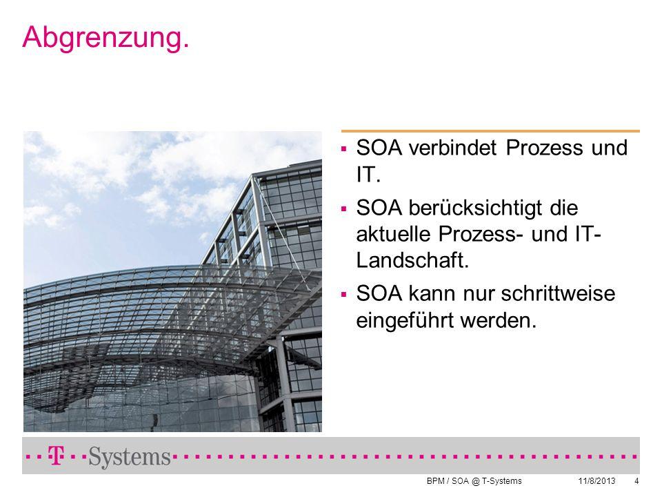 Abgrenzung. SOA verbindet Prozess und IT.