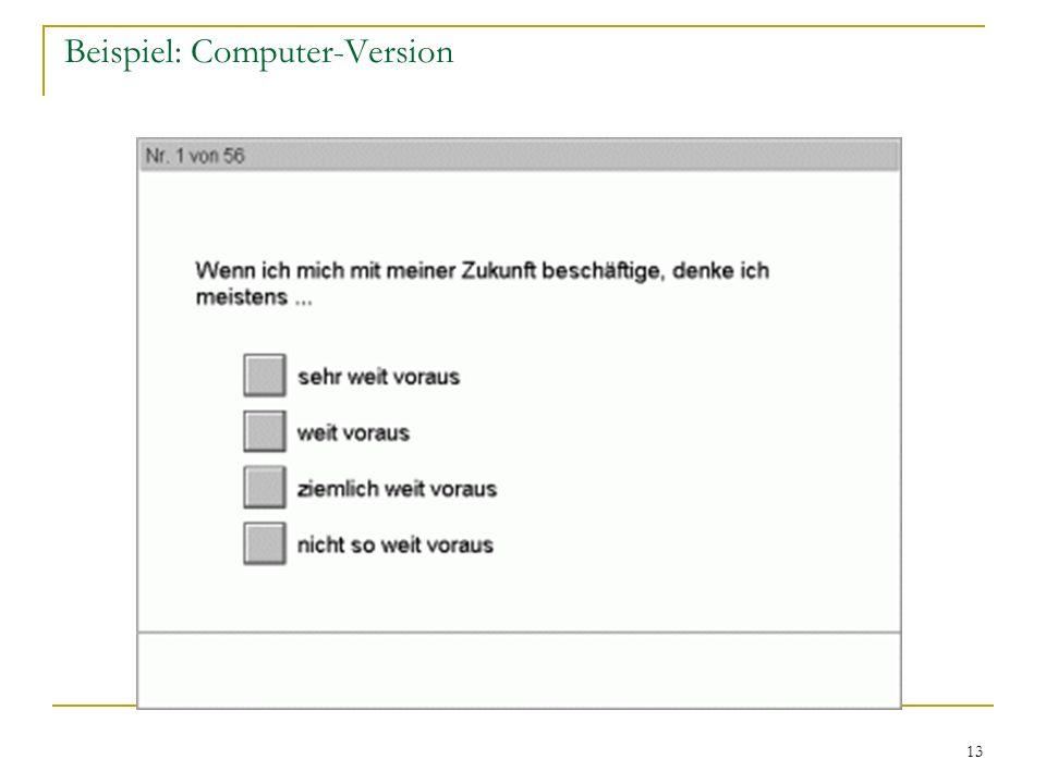 Beispiel: Computer-Version