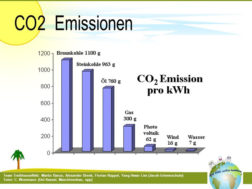 CO2 Emissionen Team Treibhauseffekt: Martin Banze, Alexander Brenk, Florian Rüppel, Yang Hwan Lim (Jacob-Grimmschule)