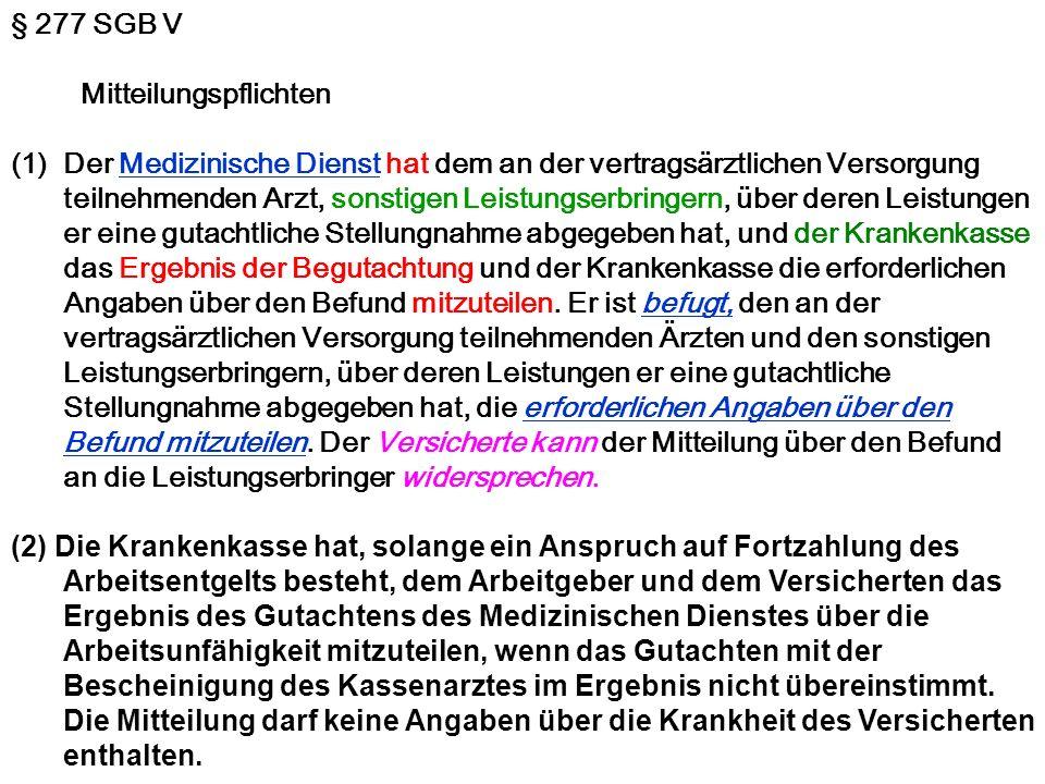 § 277 SGB V Mitteilungspflichten.