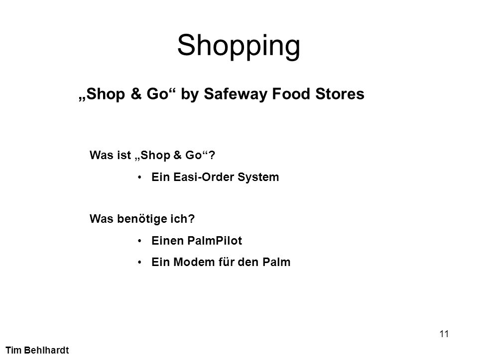 "Shopping ""Shop & Go by Safeway Food Stores Was ist ""Shop & Go"