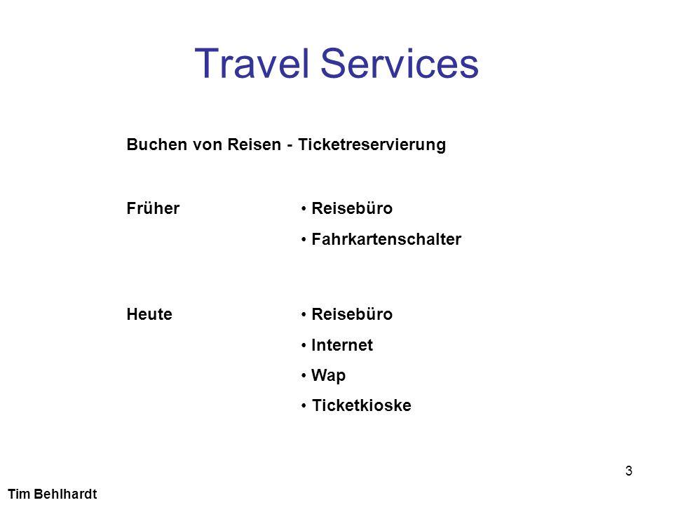 Travel Services Buchen von Reisen - Ticketreservierung Früher