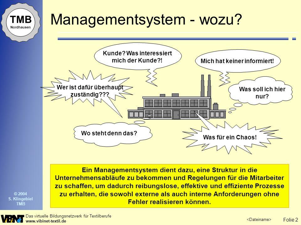 Managementsystem - wozu