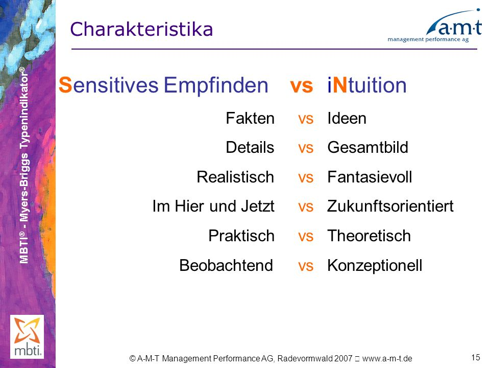 Sensitives Empfinden vs iNtuition