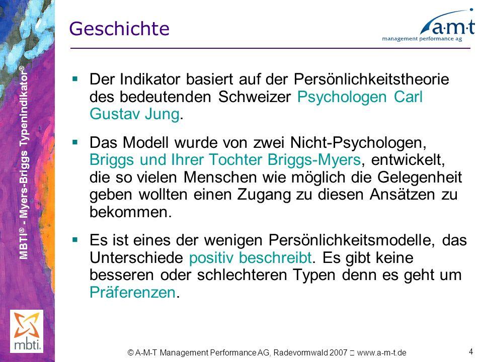 Geschichte Der Indikator basiert auf der Persönlichkeitstheorie des bedeutenden Schweizer Psychologen Carl Gustav Jung.