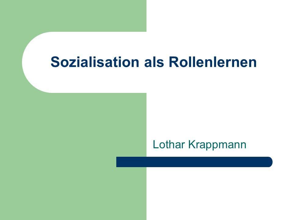 Sozialisation als Rollenlernen