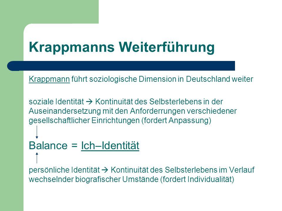 Krappmanns Weiterführung