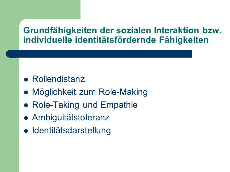 Grundfähigkeiten der sozialen Interaktion bzw