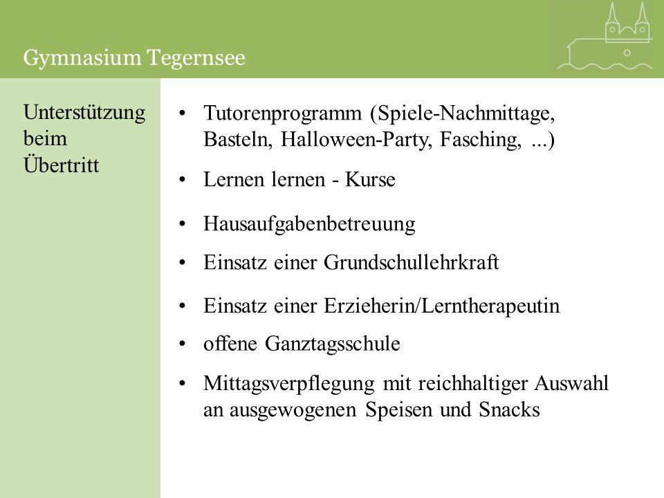 Gymnasium Tegernsee Gymnasium Tegernsee. Unterstützung. beim. Übertritt.