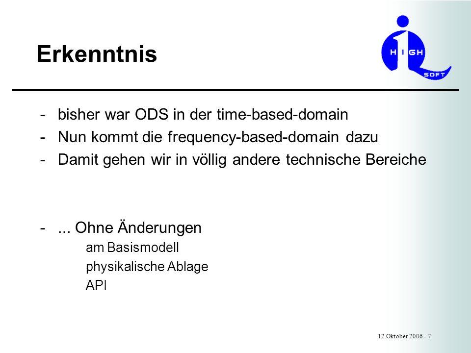 Erkenntnis bisher war ODS in der time-based-domain