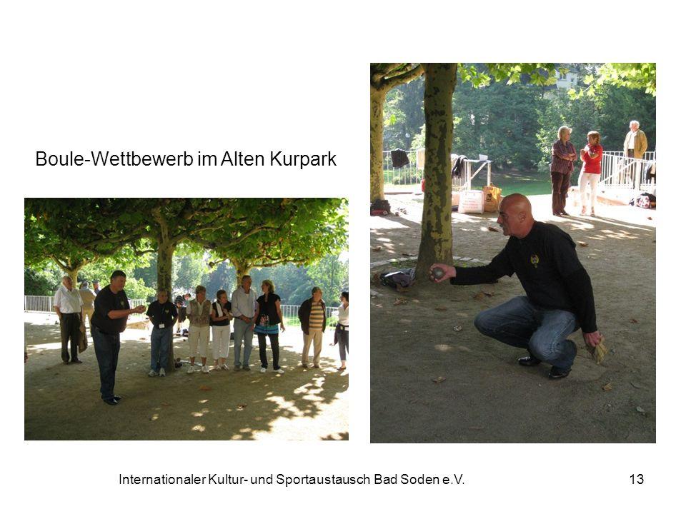 Boule-Wettbewerb im Alten Kurpark