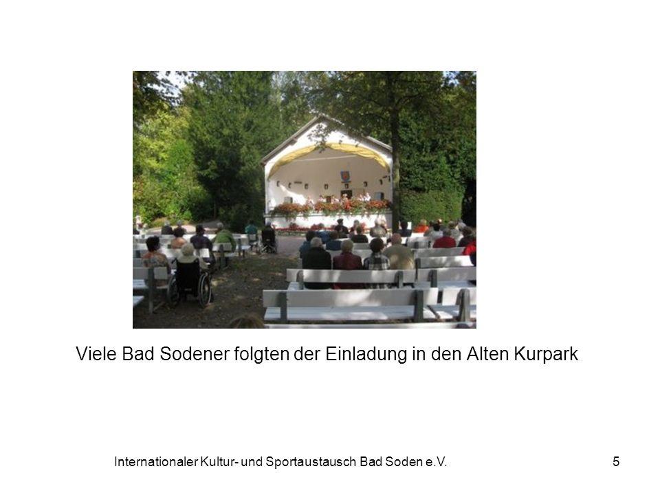Viele Bad Sodener folgten der Einladung in den Alten Kurpark