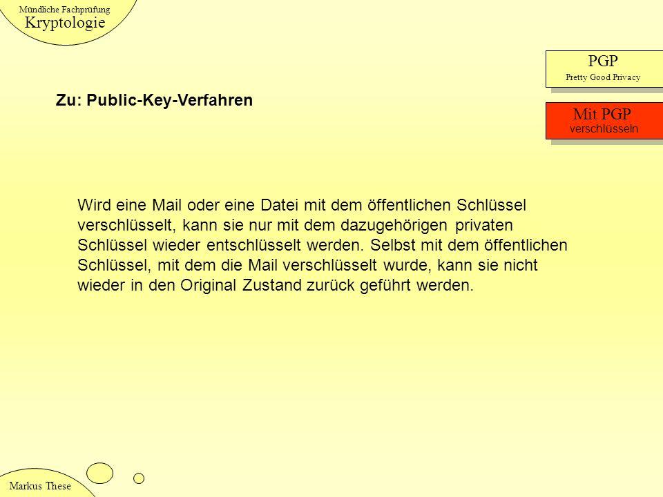 Zu: Public-Key-Verfahren Mit PGP