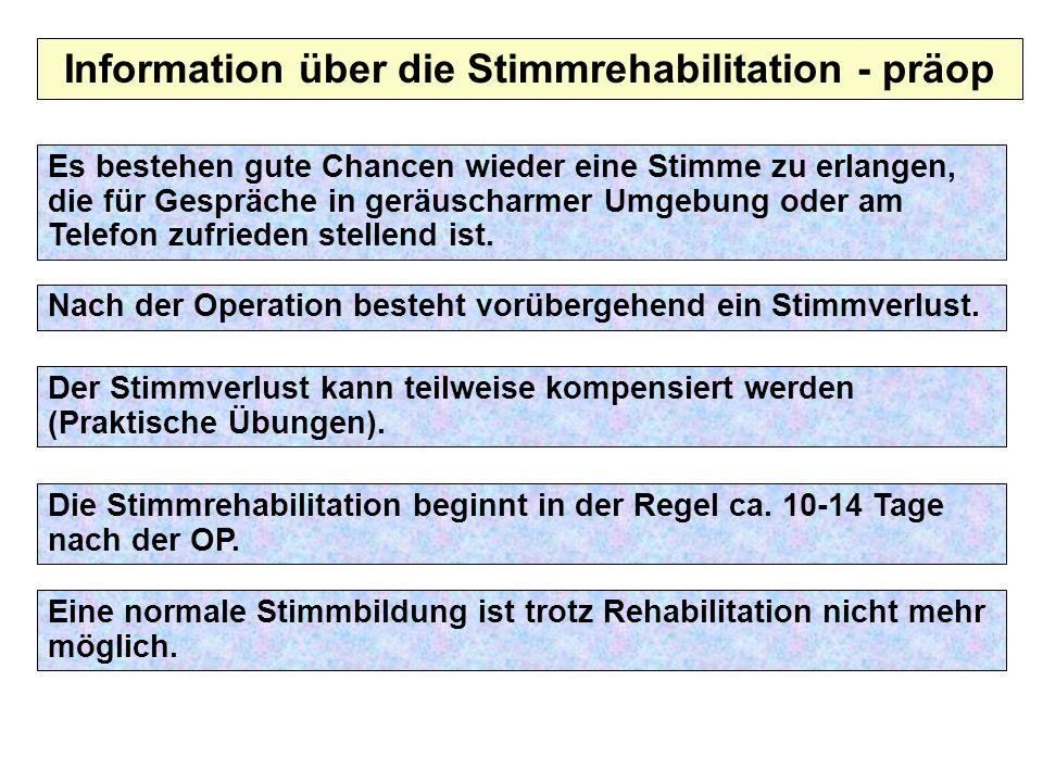 Information über die Stimmrehabilitation - präop