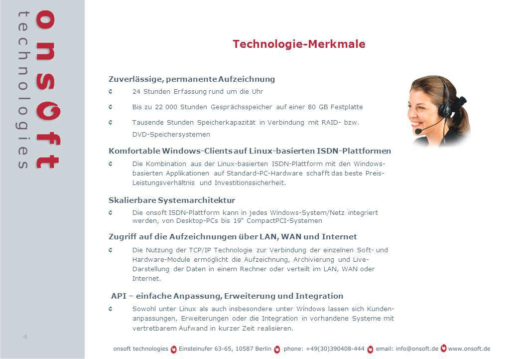 Technologie-Merkmale