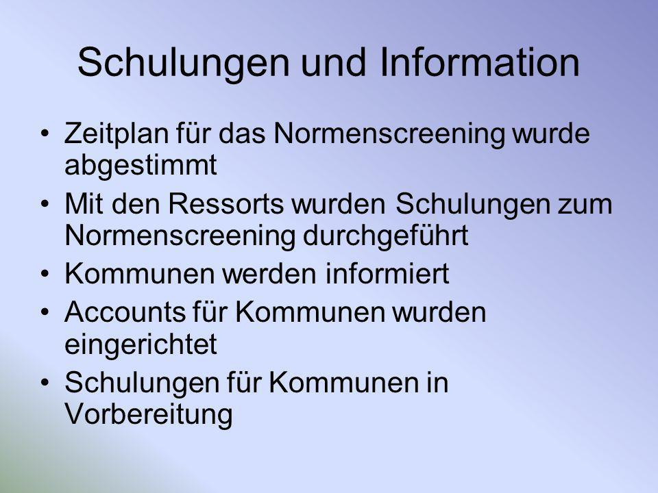 Schulungen und Information