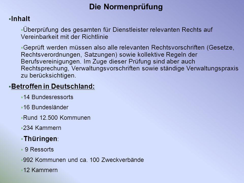 Die Normenprüfung Inhalt Betroffen in Deutschland: Thüringen: