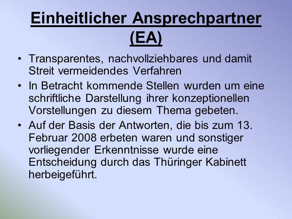 Einheitlicher Ansprechpartner (EA)