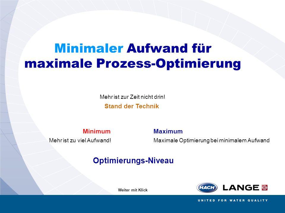 Minimaler Aufwand für maximale Prozess-Optimierung