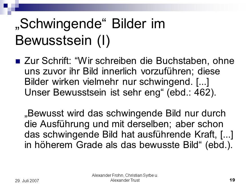 """""""Schwingende Bilder im Bewusstsein (I)"""