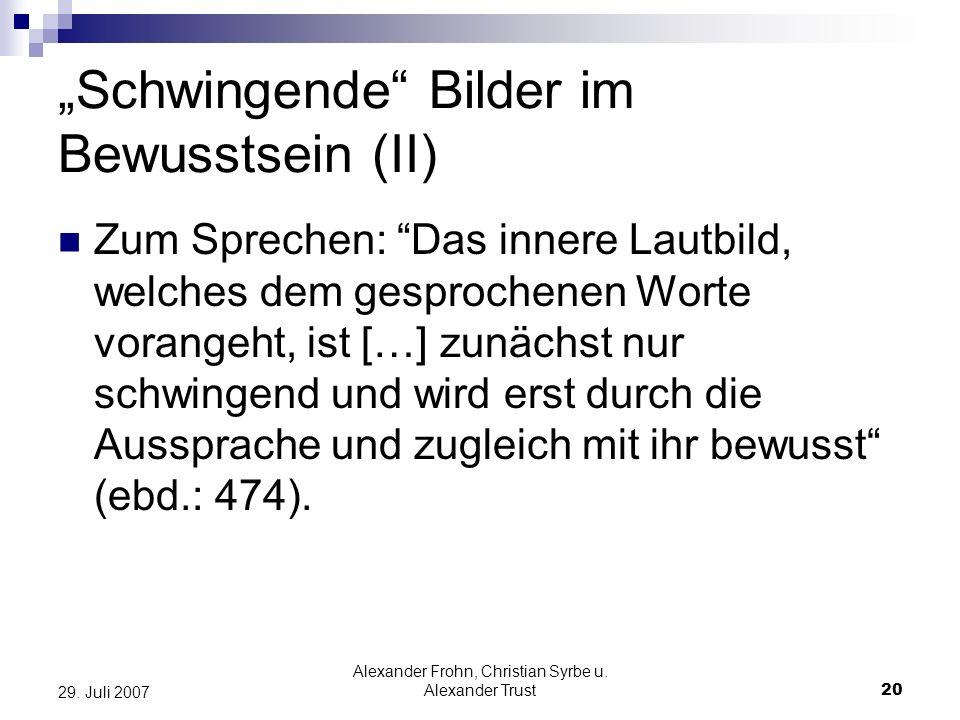"""""""Schwingende Bilder im Bewusstsein (II)"""