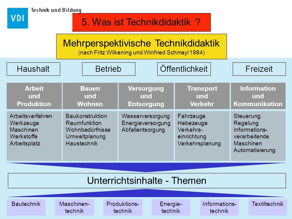 5. Was ist Technikdidaktik