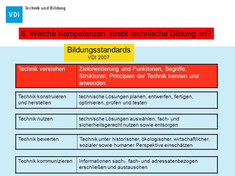 Bildungsstandards VDI 2007