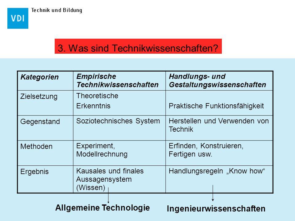3. Was sind Technikwissenschaften