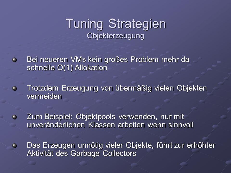 Tuning Strategien Objekterzeugung