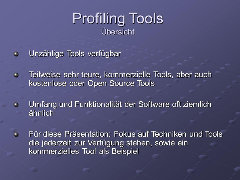 Profiling Tools Übersicht