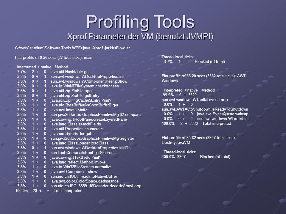 Xprof Parameter der VM (benutzt JVMPI)