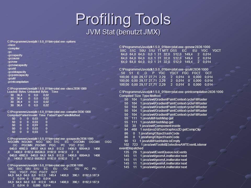 Profiling Tools JVM Stat (benutzt JMX)
