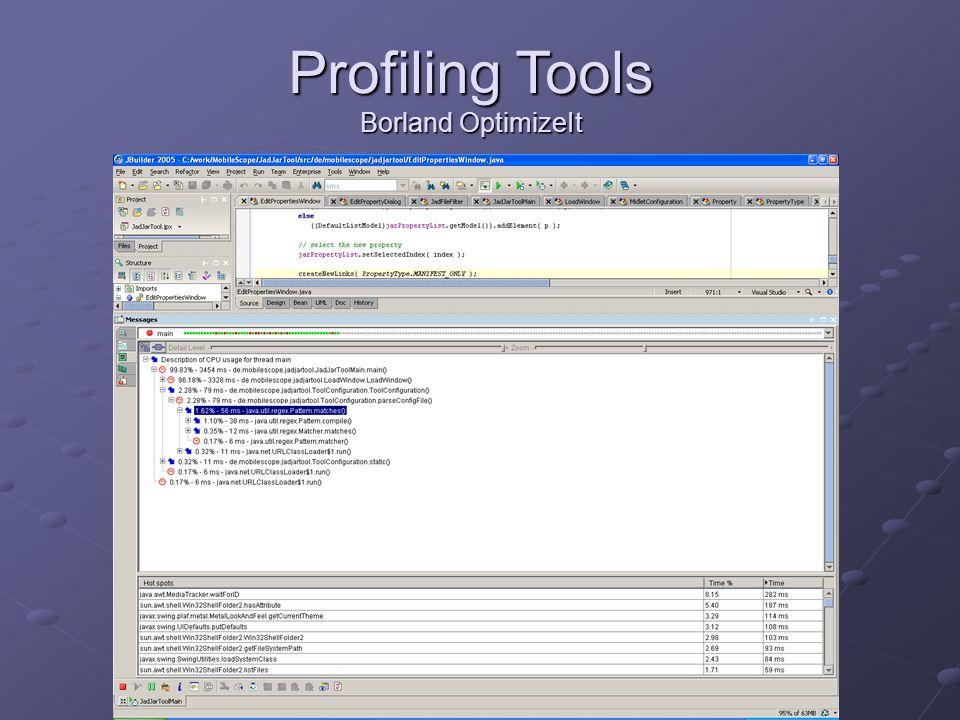 Profiling Tools Borland OptimizeIt