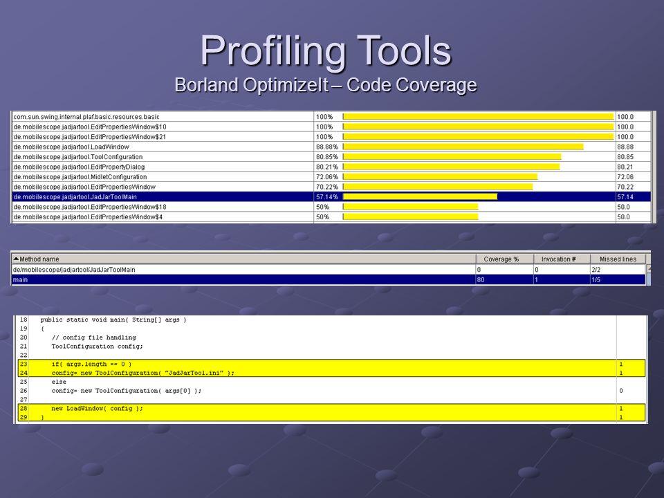 Borland OptimizeIt – Code Coverage