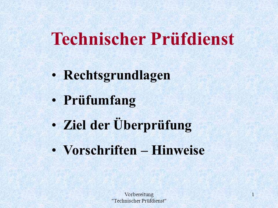 Technischer Prüfdienst