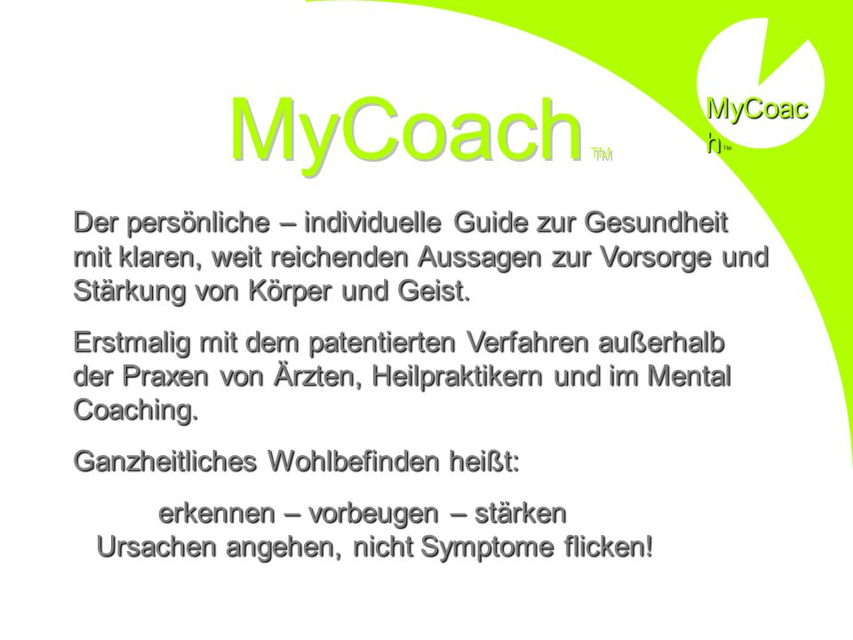 MyCoach MyCoach TM.