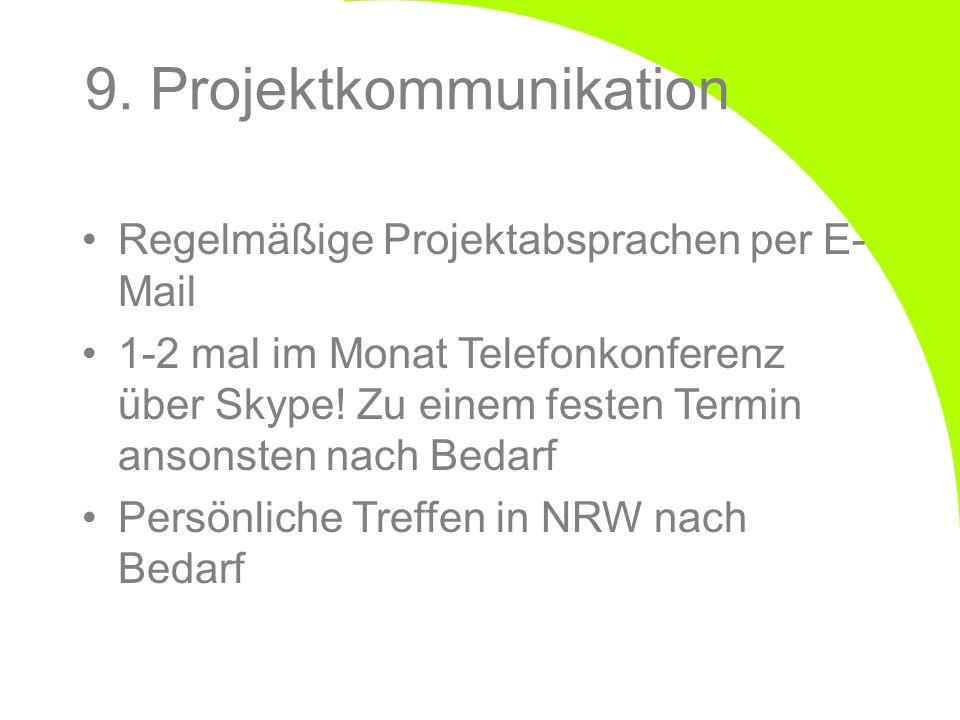9. Projektkommunikation