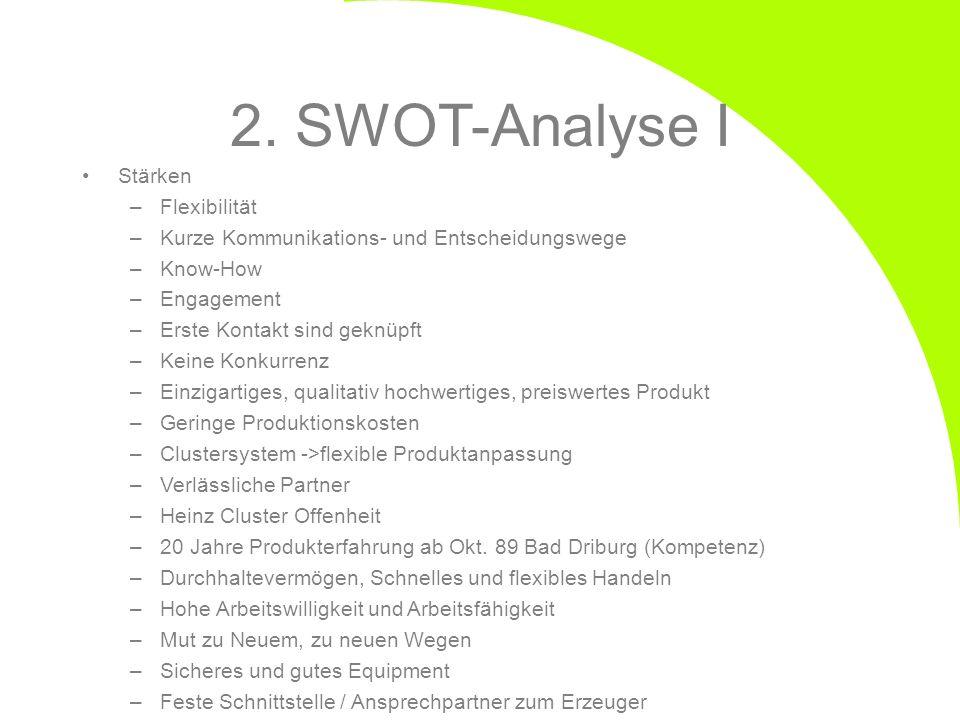 2. SWOT-Analyse I Stärken Flexibilität