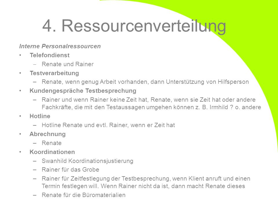 4. Ressourcenverteilung