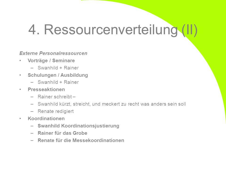 4. Ressourcenverteilung (II)