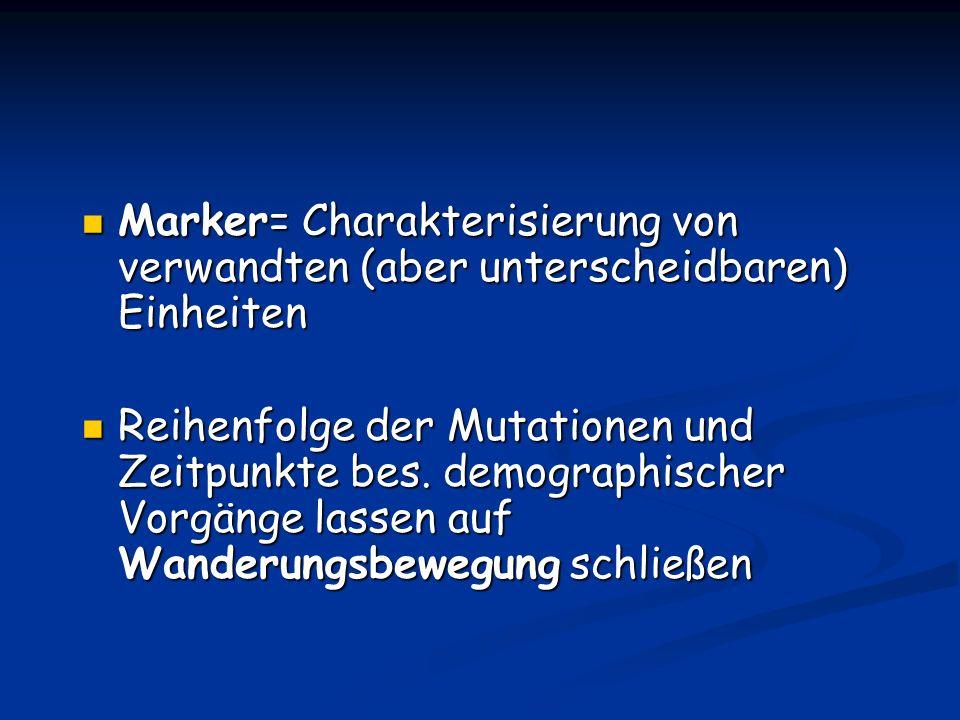 Marker= Charakterisierung von verwandten (aber unterscheidbaren) Einheiten