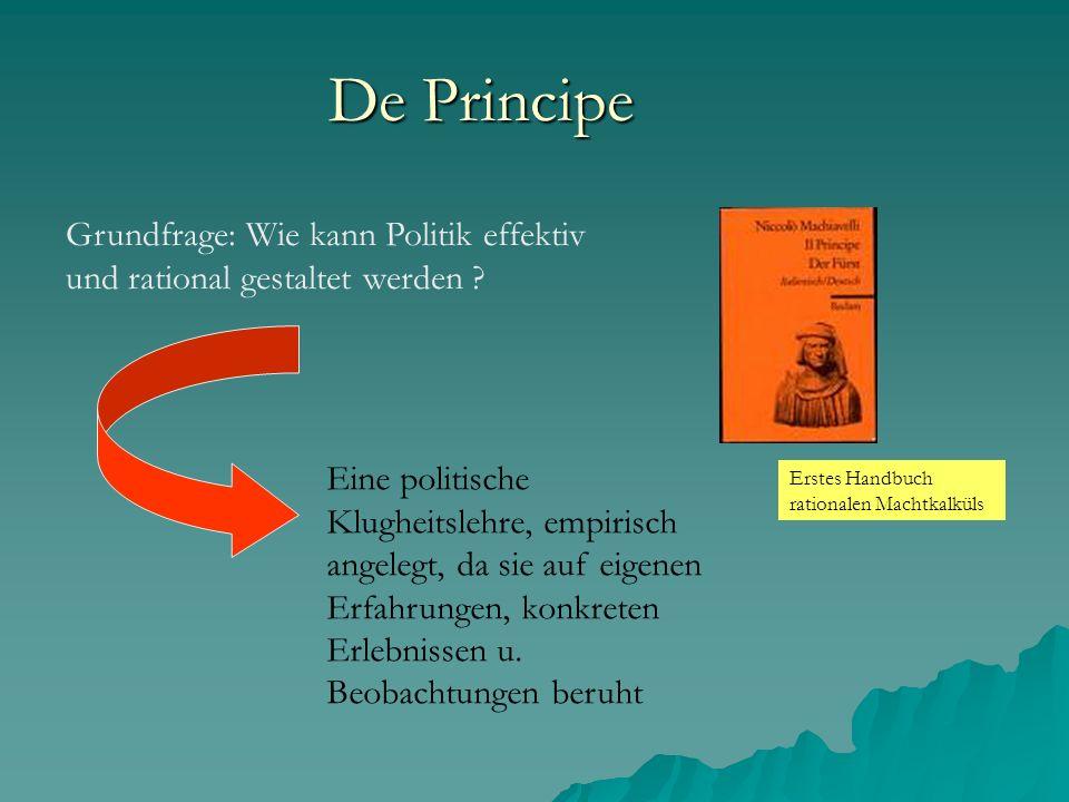 De Principe Grundfrage: Wie kann Politik effektiv und rational gestaltet werden
